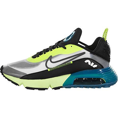 Nike Air Max 2090, Chaussure de Piste d'athlétisme Homme, White/Black-Volt-Valerian Blue, 45 EU