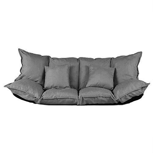 2 Sitzer Schlafsofa im Japanischen Stil Sofa mit Schlaffunktion 100 x 150 cm Sofa, grau