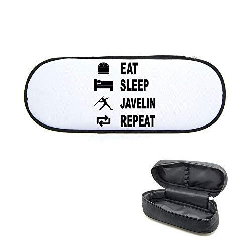 Federmäppchen, bedruckt, Eat Sleep Javelot