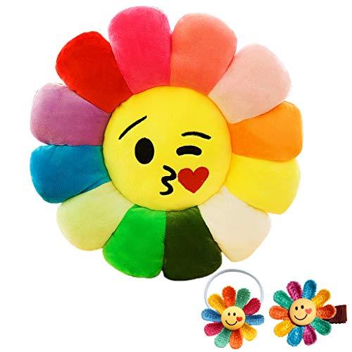 Yunyun, cuscino in peluche a forma di fiore, per bambini, morbido, per la stanza delle ragazze e la cameretta dei bambini, decorazione per la casa, 50 cm di diametro (50 cm)