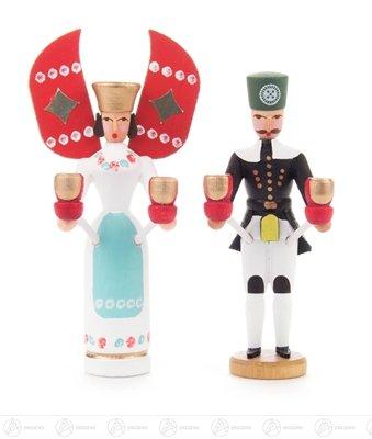 Rudolphs Schatzkiste Engel & Bergmann Miniatur Engel und Bergmann Breite x Höhe x Tiefe 5 cmx10 cmx3,5 cm NEU Erzgebirge Weihnachtsfigur Holzfigur