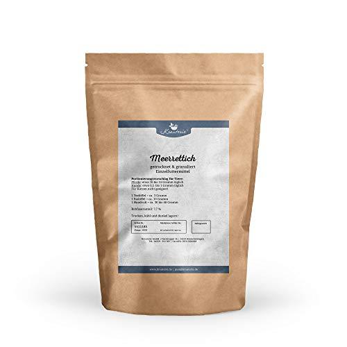 Krauterie Meerrettich in hochwertiger Qualität, frei von jeglichen Zusätzen, für Pferde und Hunde (Armoracia rusticana) – 250 g