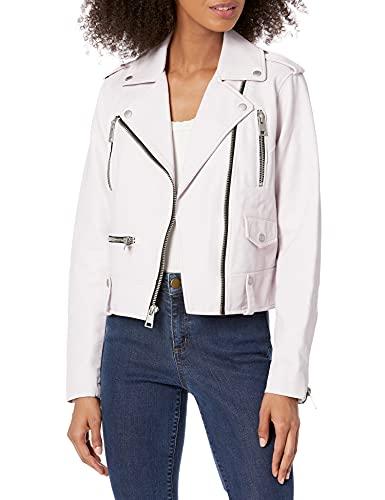 Levi's Women's Plus Size Faux Leather Contemporary Asymmetrical Motorcycle Jacket, Blush, 3 X
