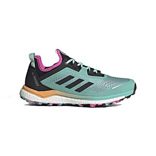 adidas Terrex Agravic Flow W, Zapatillas de Trail Running Mujer, MENACI/NEGBÁS/ROSCHI, 38 EU