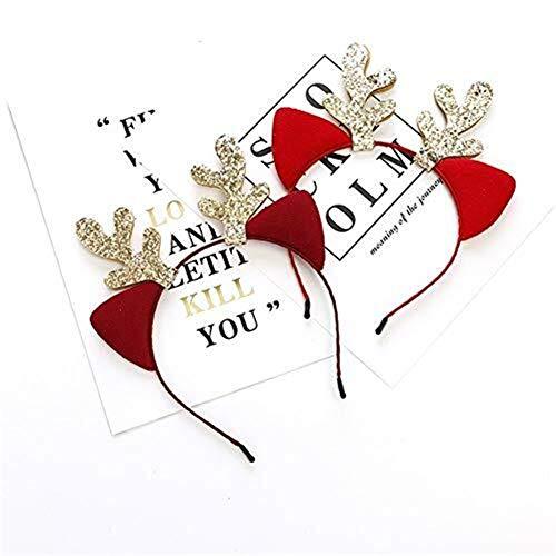 Q&F Kerst Haaraccessoires, Kerst Hoofdband Haar Hoop Accessoires Decoratie voor Kinderen en Volwassenen Xmas Holiday Party Decor (Kleur : F)