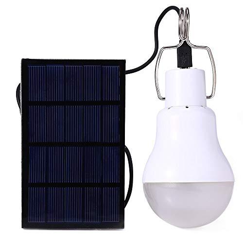 Bombilla de luz LED de energía solar Lámpara de iluminación portátil Proyector...