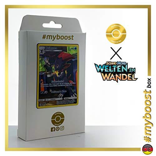 Snibunna (Weavile) 238/236 Shiny Full Art - #myboost X Sonne & Mond 12 Welten im Wandel - Doos met 10 Duitse Pokémon-kaarten
