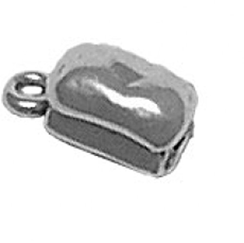 Sterling Silver 3D Kitchen Loaf Of Bread Cooking Food Charm