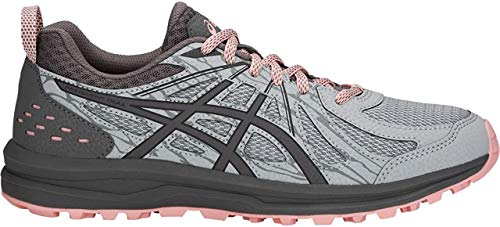 ASICS Women's Frequent Trail Running Shoe, Mid Grey/Carbon, 7.5 Wide