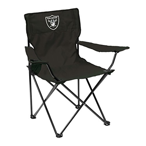 Logo Brands Officially Licensed NFL Unisex Quad Chair, One Size, Las Vegas Raiders