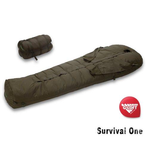 Carinthia Survival One Militär Schlafsack HighEnd Winterschlafsack mit Armausgriffe -25°C
