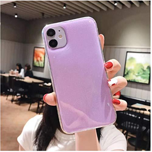 LMPENG Caja del teléfono móvil se aplica al iPhone 12 11 Pro 7 8plus xsmax XR lindo flash pinza soporte a prueba de golpes cubierta trasera de silicona