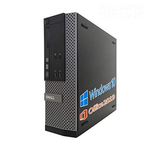 DELL デスクトップPC 9020/MS Office 2019/Win 10/Core i3-4130/HDMI/wajunのWIFI/Bluetooth/DVD/4GB/128GB SSD (整備済み品)