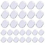 TOAOB 80 Pieces 2 Sizes Earring Back Pads Clear Silicone Comfort Earring Cushions for Clips on Earrings
