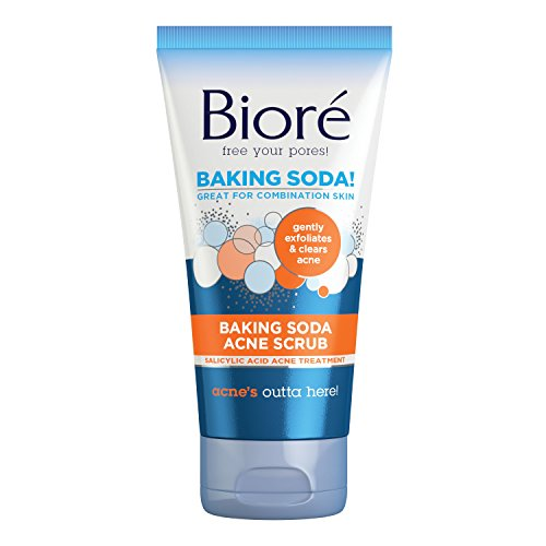 Bioré Baking Soda Acne Face Scrub, 4.5 Ounce, with 2% Salicylic Acid helps to Prevent Breakouts for Oil-free Purification of Combination Skin