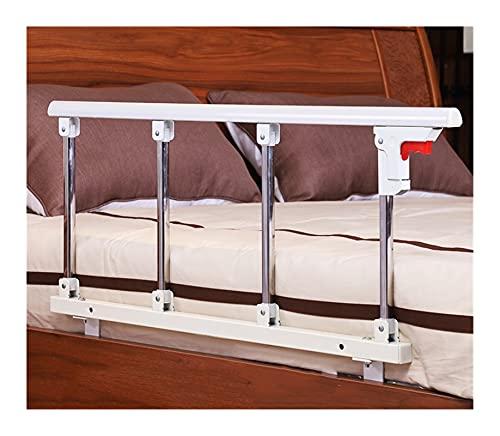 WCX Barandillas de la Cama Barras Plegables Seguridad Guardia Lateral para Personas Mayores Barrera De Cama Barandas de protección Barra de Agarre (Color : White, Size : 4cm L Brackets 95x40cm)