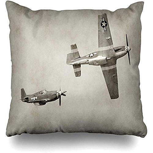 Snbin Dekokissenbezug Kissenbezug Retro Zweiten Weltkrieg Ii Kampfflugzeuge FNostalgic Ww2 Zwei Airforce Flying Old Kissenbezug