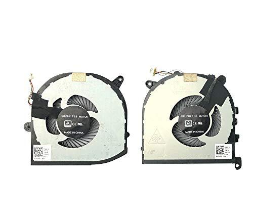 Laptop GPUCPU Fan for DELL XPS 15 9560 P56F DC28000I0F0 DC28000IPF0 0VJ2HC VJ2HC 0TK9J1 TK9J1 a Pair New