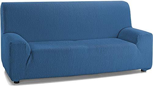 Jara Casa Textil - Copridivano elasticizzato per divano da 2, 3 e 4 posti, colore: blu