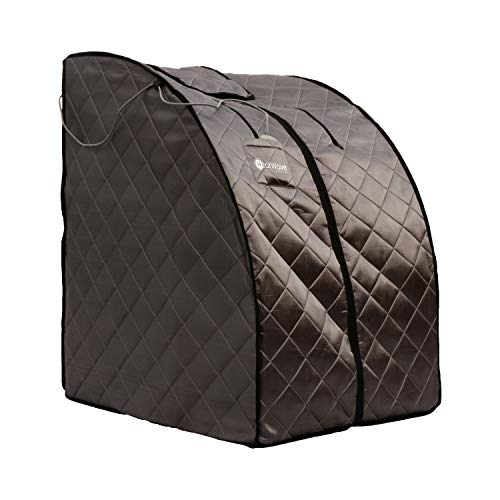 Radiant Saunas Rejuvinator Portable Personal Sauna with FAR Infrared Carbon Panels, Heated Floor Pad, Canvas Chair