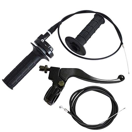 Throttle Handle,Right Brake Lever and Handle,Brake Cable and Throttle Cable, for XR80 XR100 CRF70 CRF80 CRF100 Pit Dirt Motor Bike,Baja Mini Bike,Mb165 Mb200 196cc 200cc 5.5hp 6.5hp Doodlebug Bike
