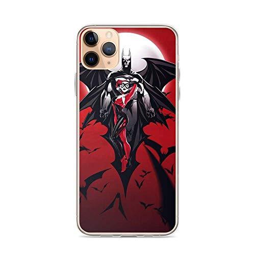 FGHSFRT Bat-Man Superhero Comic Harley-Quinn Joker - Carcasa transparente a prueba de...