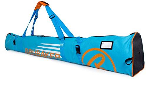 Brubaker Skitasche Carver Champion gepolsterter Skisack für 1 Paar Ski und Stöcke 170 cm Blau Orange