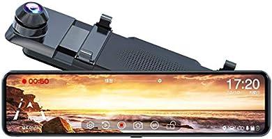 JADOドライブレコーダー ミラー型 前後カメラ 右ハンドル仕様【進化版伸縮カメラ】【業界唯一の上下鏡像+左右鏡像、同時設定可能】1080p【32GBカード付属】前後同時録画/同時表示 HDR/WDR付き 170°超広角...