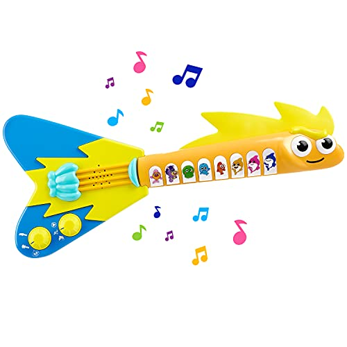 WowWee Baby Shark's Big Show! EEL-ectric Guitar – Interactive Musical Toys for Toddlers – Lights and Sounds Toy Guitar