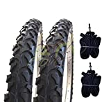 Ecovelò 2 COPERTONI (54-507) 24 x 1.95+CAMERE D'Aria   Pneumatici Neri MTB Bici Bicicletta Mountain Bike