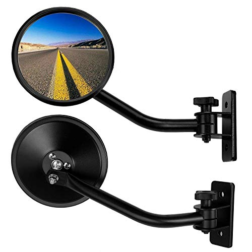 ouying1418 1 Pair Car Blind Spot Mirrors Wide Angle Adjustable Stick-On Rear View Mirrors