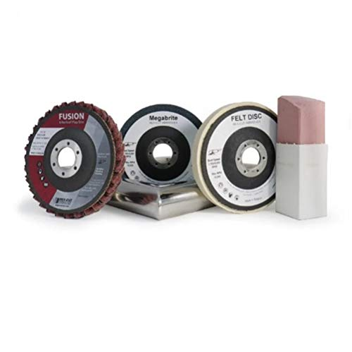 Rex-Cut Abrasives 749001 - Kit de pulido de tubos de acero inoxidable