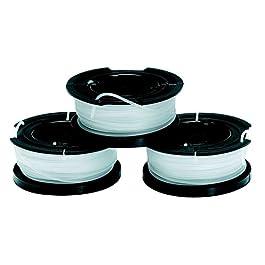 BLACK+DECKER Lot de 3 Bobines de Rechange pour Coupe-Bordures, Bobine Reflex Plus A Déroulement Automatique, 3 x 10 m de…
