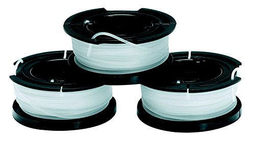 BLACK+DECKER A6485-XJ - Pack de 3 bobinas de hilo Reflex simple para cortabordes, 10m x 1.5mm