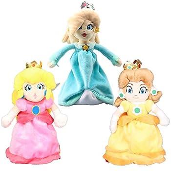 uiuoutoy Super Mario Bros Princess Peach & Daisy & Rosalina Plush 8   Set of 3pcs