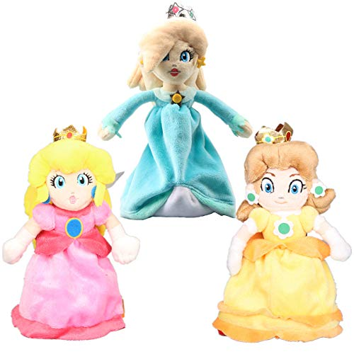 uiuoutoy Super Mario Bros. Princess Peach & Daisy & Rosalina Plush 8'' Set of 3pcs