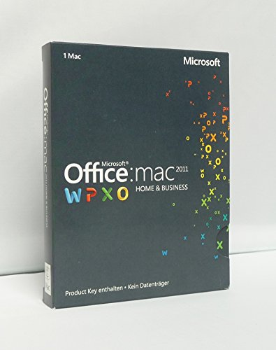 Microsoft Office Mac Home and Business 2011 - 1MAC - product Key Card ohne Datenträger [import allemand]