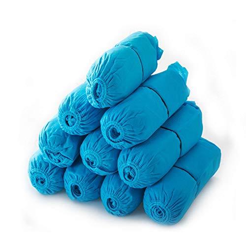 Wegwerp niet-geweven schoenovertrekken 200 stuks Antislip, stofdichte, hygiënische voetschoenen Overschoenen voor thuis, kantoren, vloerbedekking One Size Fits All Blauw