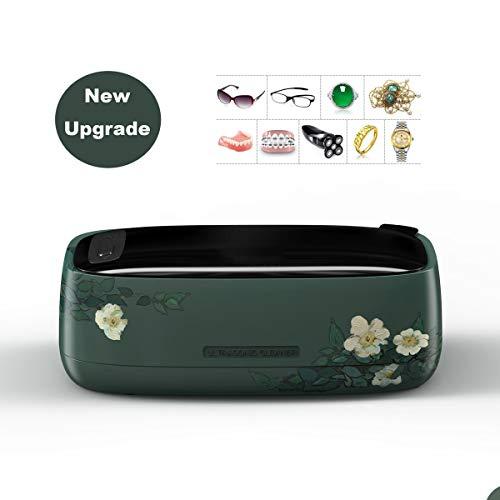 MLSJM 12V Kontaktlinsen-Brille-Reinigungsmittel, 350Ml Mini Schmuck Reinigungsmaschine Für Gläser Uhren Razors Zahnersatz, 47Khz Waschmaschine