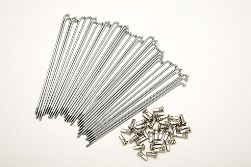 kit 40 raggi e nipples diametro 3,0 mm lunghezza 145 mm neri piegatura 90/°