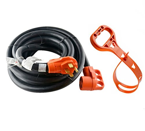 GoWISE Power 30-Feet 50 Amp RV Extension cord w/ Molded Connector and Handles- 50 Amp Male to 50 Amp Female RVC3008