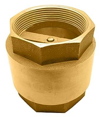 """3"""" Brass in-Line Spring Check Valve - 200WOG by DuraChoice"""