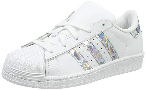 adidas Superstar C, Scarpe da Fitness Unisex-Bambini, Bianco (Blanco 000), 34 EU