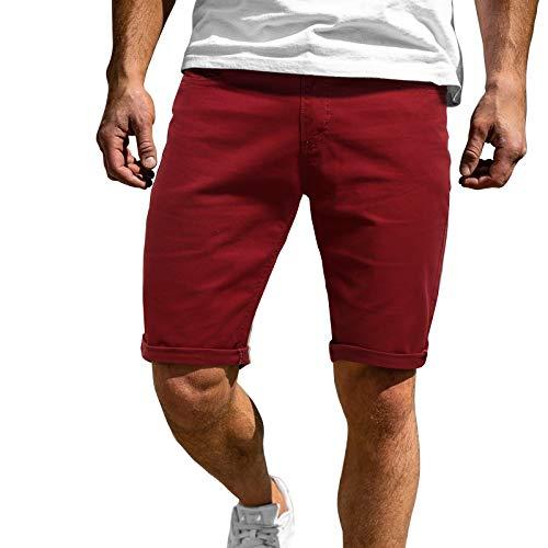 Hosen Herren Mit 5 Taschen Cargohosen Stretch Herren Cuba Chino Shorts Kurze Hose Regular Fit Bermudas Sommerhose Herren stylisch shorts Short Men Pants Chinohose Für Männer Sporthose Herren Kurz
