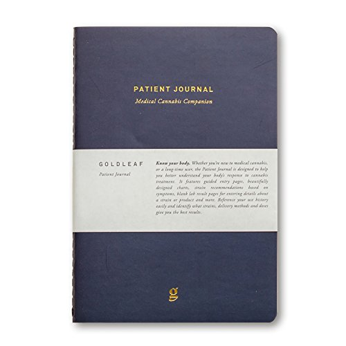 Goldleaf Patient Journal: A Medical Cannabis Therapy Logbook, Marijuana Dosing Notebook, Guided Pages, Educational Charts and Infographics, A5 Size