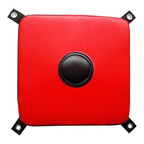 SUNERLORY - Cuscinetto da boxe da muro, ideale per la casa, per karate, sport, in finta pelle, resistente all\'usura, Non null, rosso e nero.