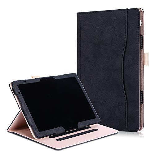 Xuanbeier Multifunktionaler Cover Stand Hülle mit Mehreren Betrachtungswinkeln für Huawei MediaPad T5 10/M5 lite 10 Zoll 2018(Schwarz)