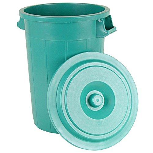 BURI Universaltonne 70L Grün mit Deckel Regentonne Abfallbehälter Müllbehälter Tonne