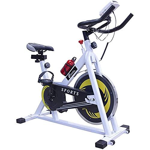 CENTURFIT Bicicleta Fija 10 kg Bicicleta Spinning Rueda 10 Kg Excelente Calidad Bicicleta Estacionaria Ajustable Bicicleta Estatica Pantalla y Portacelular Bicicleta Fija para Ejercicio