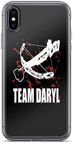 KIEJAW Phone Case Funda Compatible coniPhone 6 Plus /6s Plus Case Clear Anti-Scratch Team Daryl Dixon The Walking Dead, Daryl